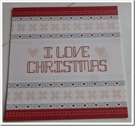 Nordic I Love Christmas Card