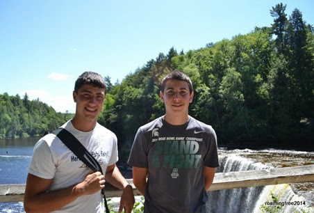 Nick & Bryce at the Upper Falls