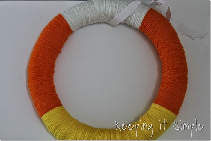 Halloween Wreath- Candy Corn Wreath (3)