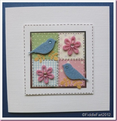Patchwork Bird card