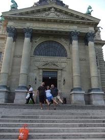 haciendo en ganso en el balneario Széchenyi, Budapest