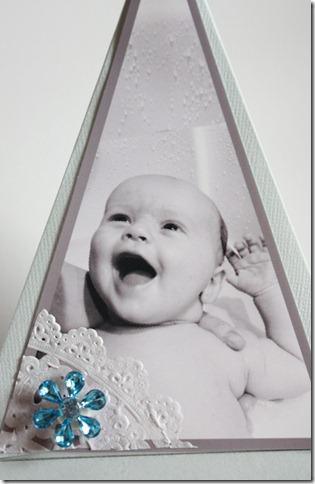 Dåpsinvitasjoner pyramide kort invitasjon baby blå IMG_1707