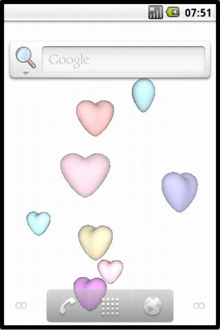 Cute 3D Hearts Live Wallpaper