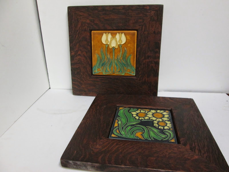 Arts & Crafts Style Tile Pair
