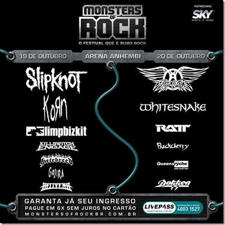 MonstersofRock2013 brasil sao paulo venda ingressos ver