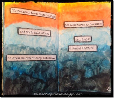 darkness into light art journal