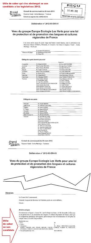 Votacion al conselh de Comunautat de Tolosa