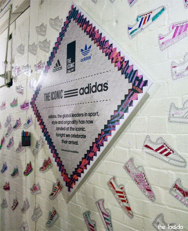 The Iconic x Adidas - Launch in Sydney - Colour in Sneaker Wall