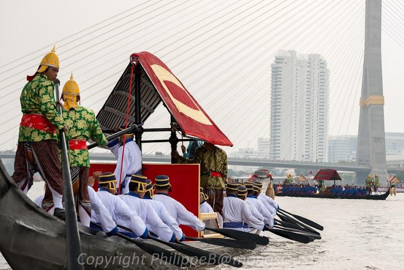 Bangkok, Procession des barges royales