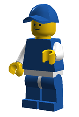 Meet Blue Lego Guy (created with Lego Digital Designer)