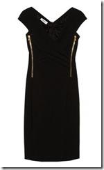 Moschino Zip Detail Crepe Dress