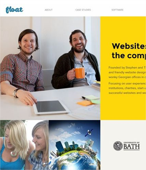 15 ejemplos de sitios web con estilos coloridos y planos