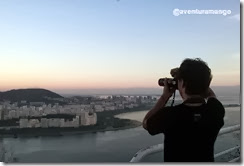 Yan fotografando a partir do Morro da Urca