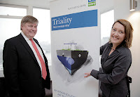 DNV floated its 'Triality' LNG-fueled tanker concept in mid-2010. DNV CEO Henrik Madsen and principal engineer Torill Grimstad Osberg are pictured here in photo by Nina Eirin Rangoy