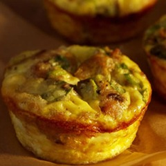 Mini Mushroom &amp; Sausage Quiches