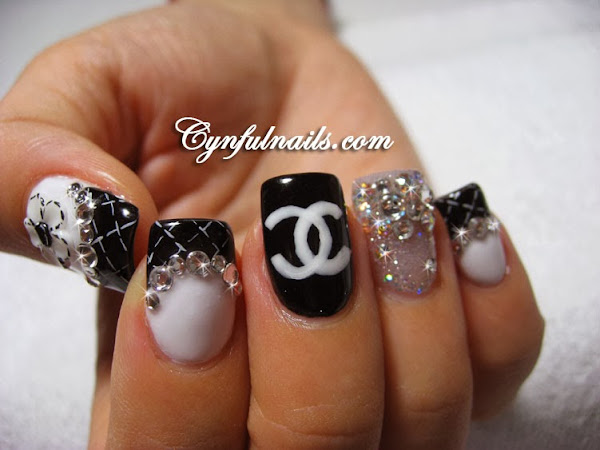 Black Acrylic Nail Designs Nail Designs Hair Styles Tattoos And