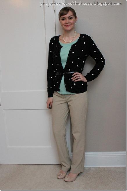 polka dots and mint