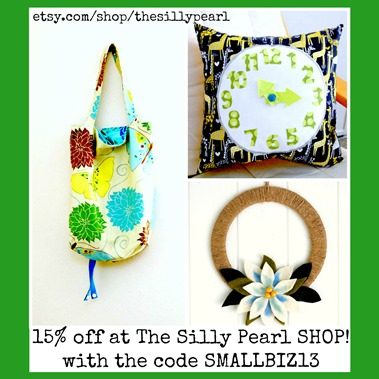 Small Business Saturday Sale at the Silly Pearl SHOP with code SMALLBIZ13