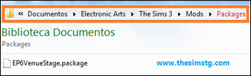 Meus Documentos\Eletronic Arts\The Sims 3\Mods\Packages