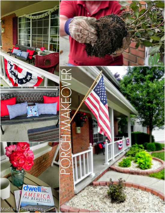 Porch Makeover - Mad in Crafts