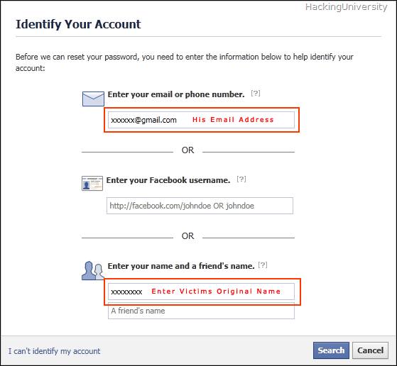 Hack Facebook with 3 Trusted Friends Method
