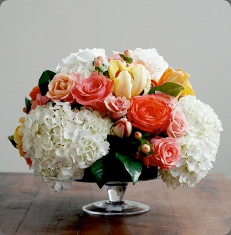 diy-rose-hydrangea-centerpiece-580x580 the sweetest iccasion