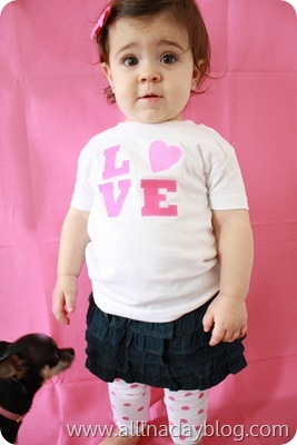 Valentine shirt for baby