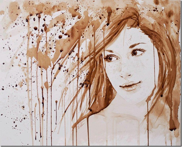 Coffee Painting By Josephine Ryan