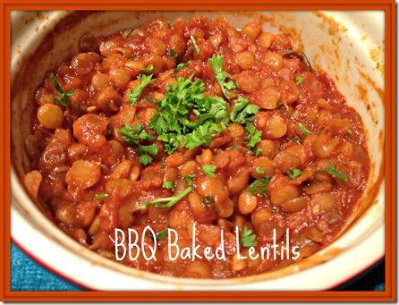 bbq baked lentils