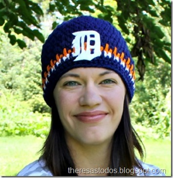 Crocheted Detroit Tiger Beanie