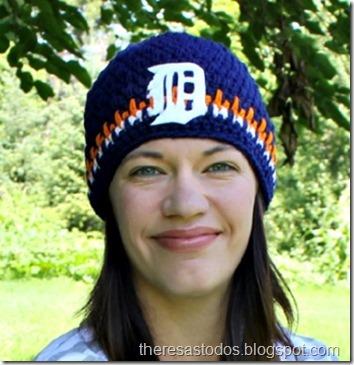 Crocheted Detroit Tiger Beanie