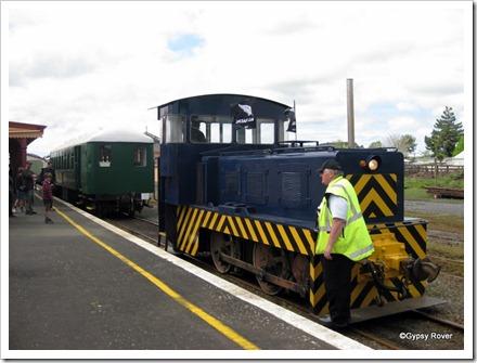 Diesel power at the Goldfield Railway Waihi.