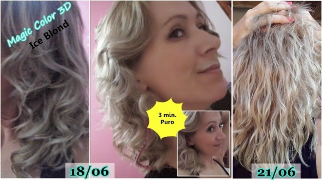 Testei Magic Gloss 3D Ice Blond.