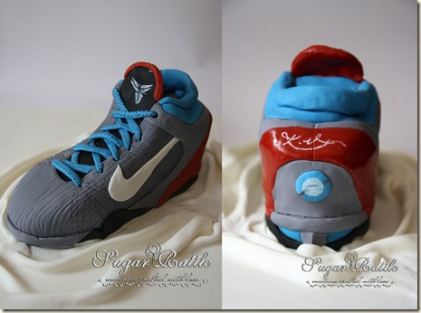 sport shoes cake