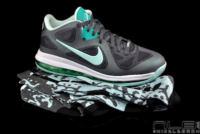 lebron9 low easter 50 web black The Showcase: Nike LeBron 9 Low Mint Candy aka Easter
