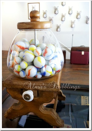 wooden gumball machine