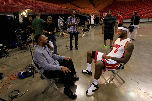 LeBron Wears New Nike Ambassador 5 During Media Day