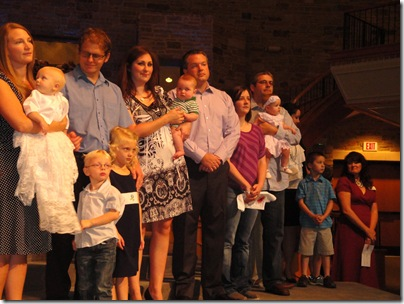 2.  Knox's baby dedication