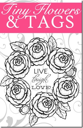Tiny Flowers and Tags Graphic