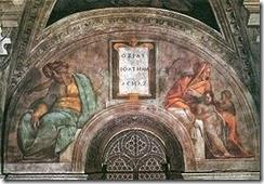 290px-Michelangelo_Sistine_Chapel_ceiling_-_Ozias,_Jethan_und_Achaz_-_unrestored