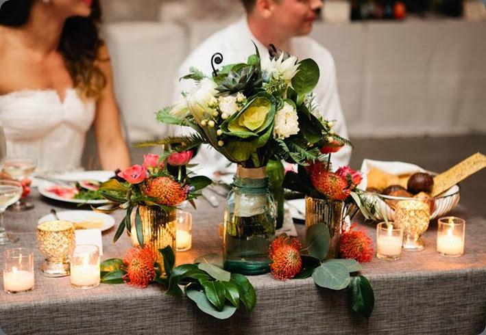 bouquets as centerpieces fleur and  Anna Guziak Photography 1237889_10151684249574537_1765034000_n