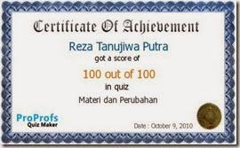 Reza sertifikat