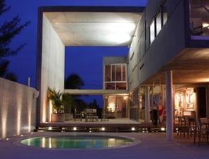 arquitectura moderna casa de homigon