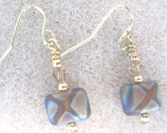 Earrings 8.23.11 gold tone bronze multi stripe