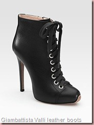 Giambattista Valli leather lae up ankle boots