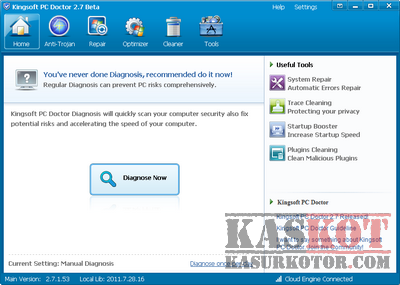 PC Optimizer dan Malware Cleaner Gratis - Kingsoft PC Doctor