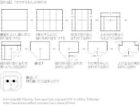 [AA]Okazakiemon Origami (Yuru-chara)