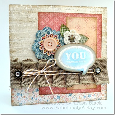 Burlap card