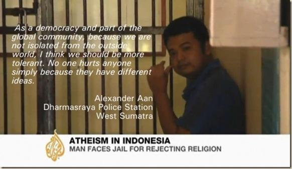 Alexander Aan dios biblia ateismo prision