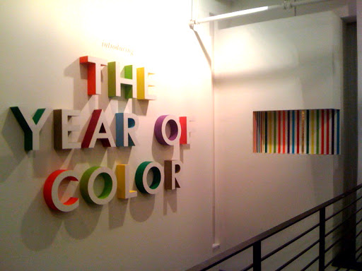 A fantastic wall in the Kate Spade New York showroom. These letters are made of foam -- insane, right?